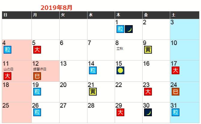 令和元年8月に財布を買う・おろす!に最適な日!