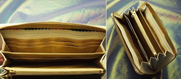厄除け白蛇財布の王様の内部