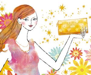 ラッキーショップの春財布