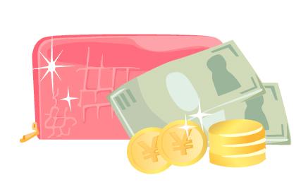 ピンク色の財布