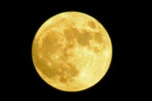 黄色くて大きいまん丸の満月